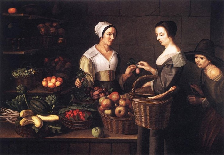 Market Scene with a Pick-pocket_louise_moillon